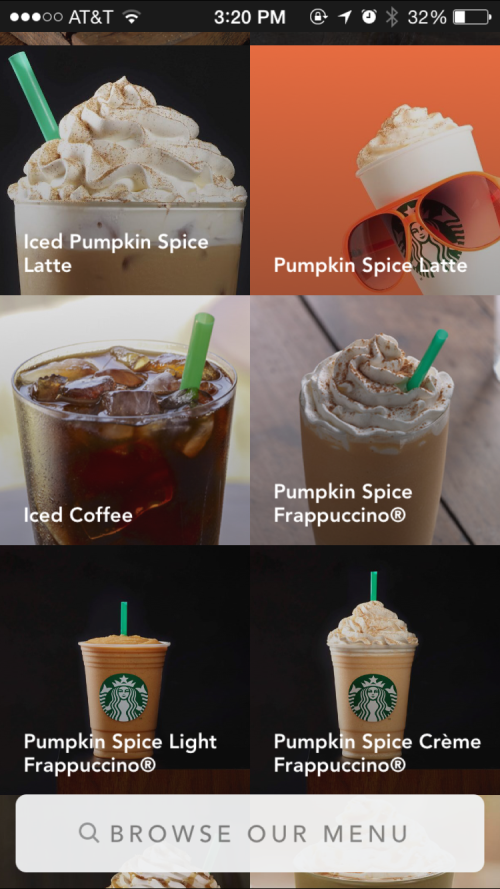 Pumpkin: Latte, Iced or Frapped?